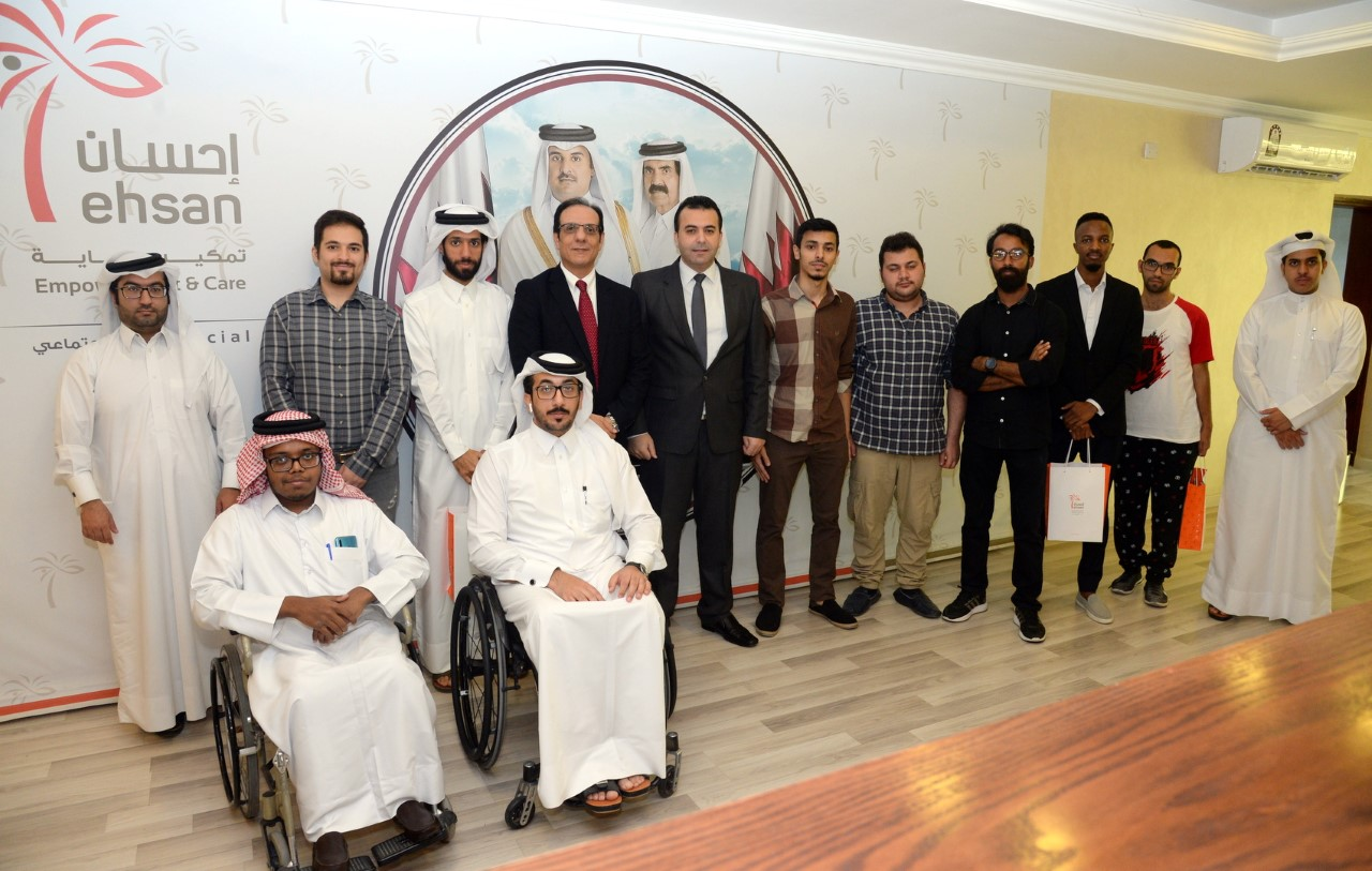 Photo of special needs students and special needs center staff in Ehsan center